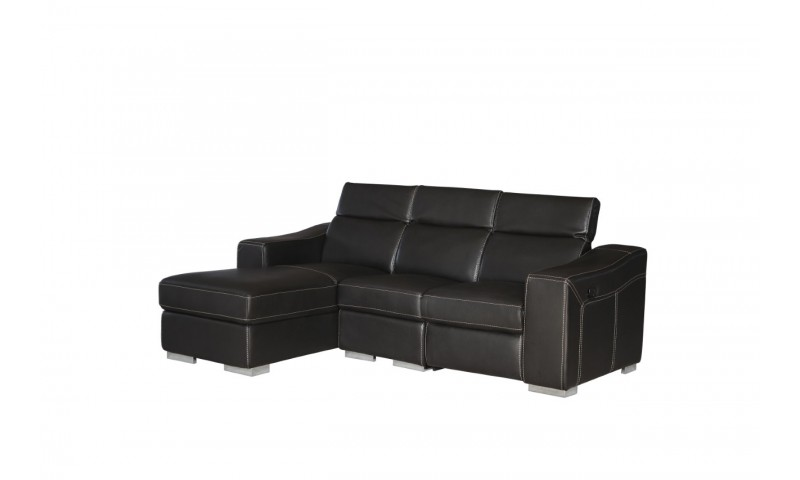 ACCENT MEDIUM SIZE CHAISE LOUNGE IN FULL GENUINE THICK LEATHER