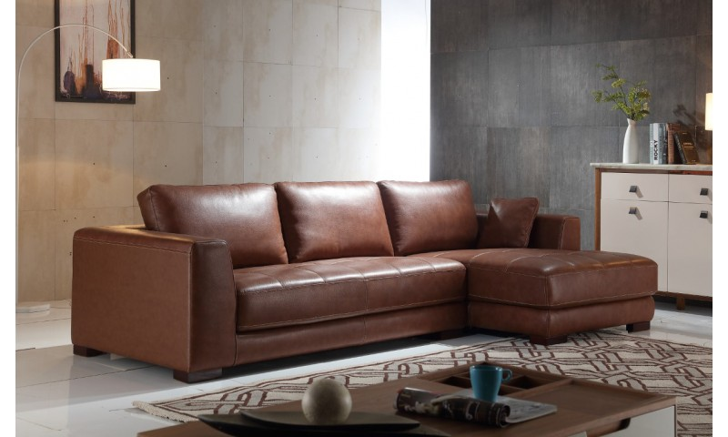 BARCELONA CHAISE LOUNGE IN FULL GENUINE THICK LEATHER