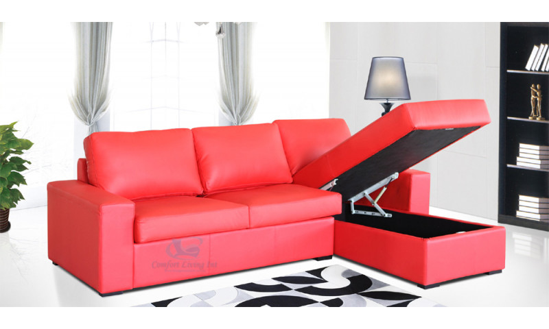 DETROIT CHAISE LOUNGE IN FULL GENUINE LEATHER