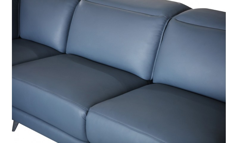 GENEVA MODULAR CHAISE LOUNGE IN FULL GENUINE THICK LEATHER