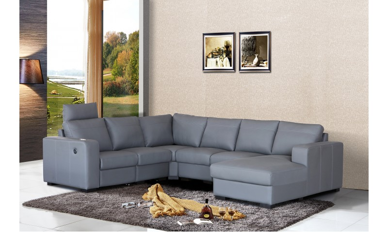 MERANO RECLINER CORNER MODULAR LOUNGE IN LEATHER WHERE IT COUNTS