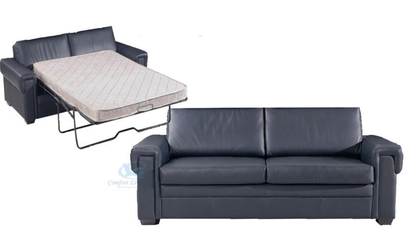VENICE SOFA BED IN FULL GENUINE LEATHER